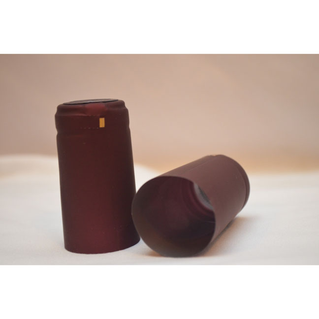 Plastic Heat-Shrink Capsule: Capsule Cork Finish- Maroon Matte | Winemaking Supplies