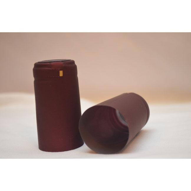 Plastic Heat-Shrink Capsule: Capsule Cork Finish- Maroon Matte | Winemaking Supplies