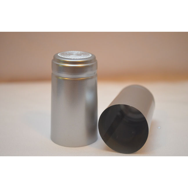 Plastic Heat-Shrink Capsule: Capsule Cork Finish- Silver | Winemaking Supplies