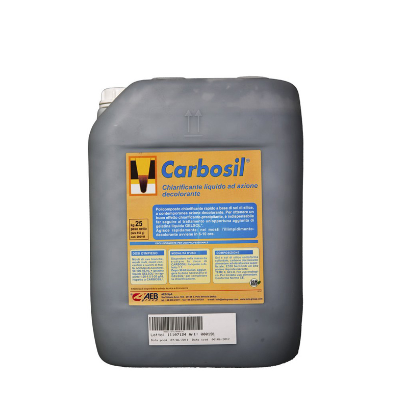 Carbosil Bulk Size for Winemaking Commercial Wineries