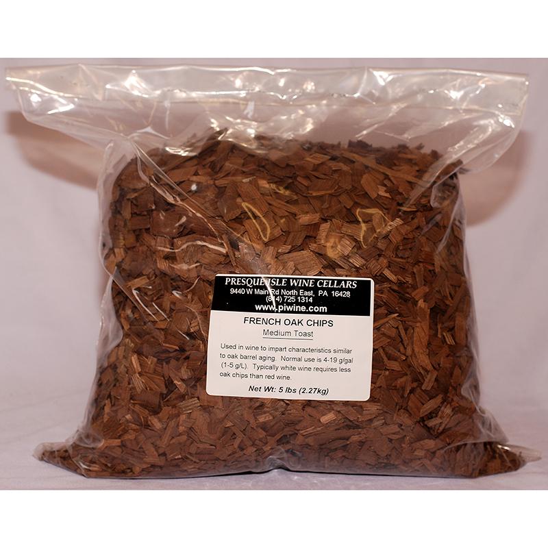 French Oak Chips: Medium Toast, 500 grams   Barrel Alternatives Winemaking Supplies