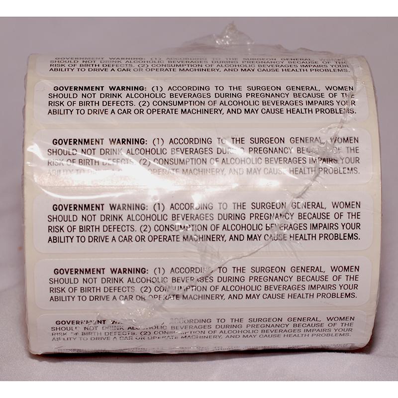 BATF Government Warning Labels
