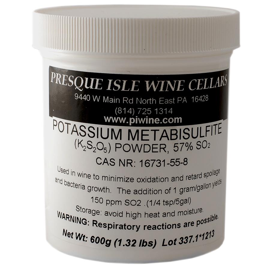 Potassium Metabisulfite Powder Wine anti-oxidant additive | Winemaking Supplies