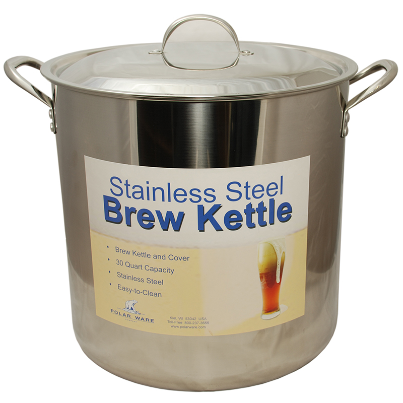 Heavy Stock Pot with Lid, 30 qt | Beer Brewing Supplies
