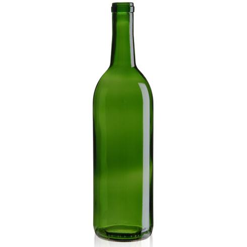Wine Bottles Bordeaux : 750 mL, Cork, Green | Winemaking Supplies