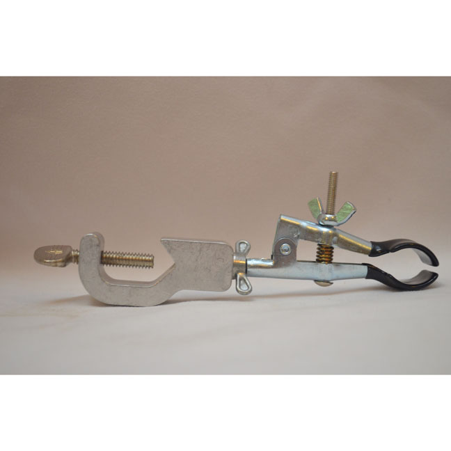 Rubber coated adjustable jaw type clamp that holds buret or pipet | Winemaking and Labware Supplies