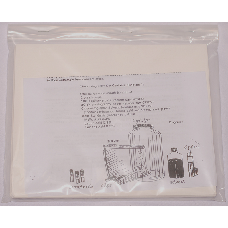 Chromatography Vertical Paper Refill | Wine making Testing and Supplies