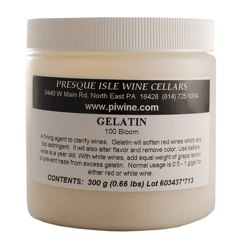 Wine Fining Agent Gelatin Powder, 100 Bloom | Winemaking Chemicals and Additives Supplies