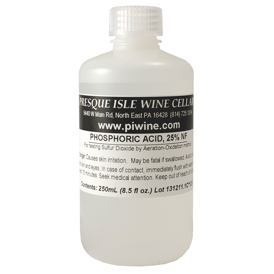 Phosphoric Acid: 25% solution for Free SO2 Testing | Wine making Supplies