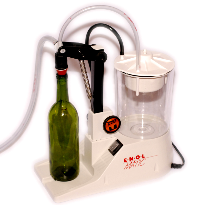 Vacuum Bottle Filler Enolmatic for filling bottles with home made wine