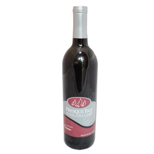Carmine Wine, rare dry red from Presque Isle Wine Cellars