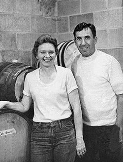 Doug and Marlene Moorhead of Presque Isle Wine Cellars in the 1970's