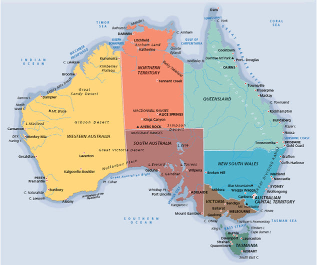 Map of Fresh Australia Juices for Wine making