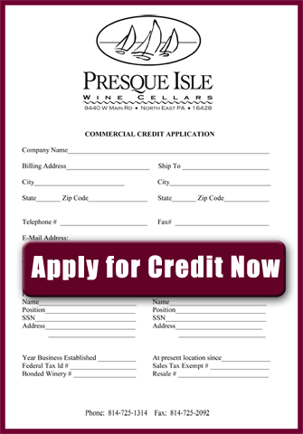 Commercial Wineries: Apply For Credit