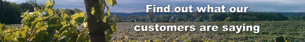 What our wine making supply customers are saying about our customer service