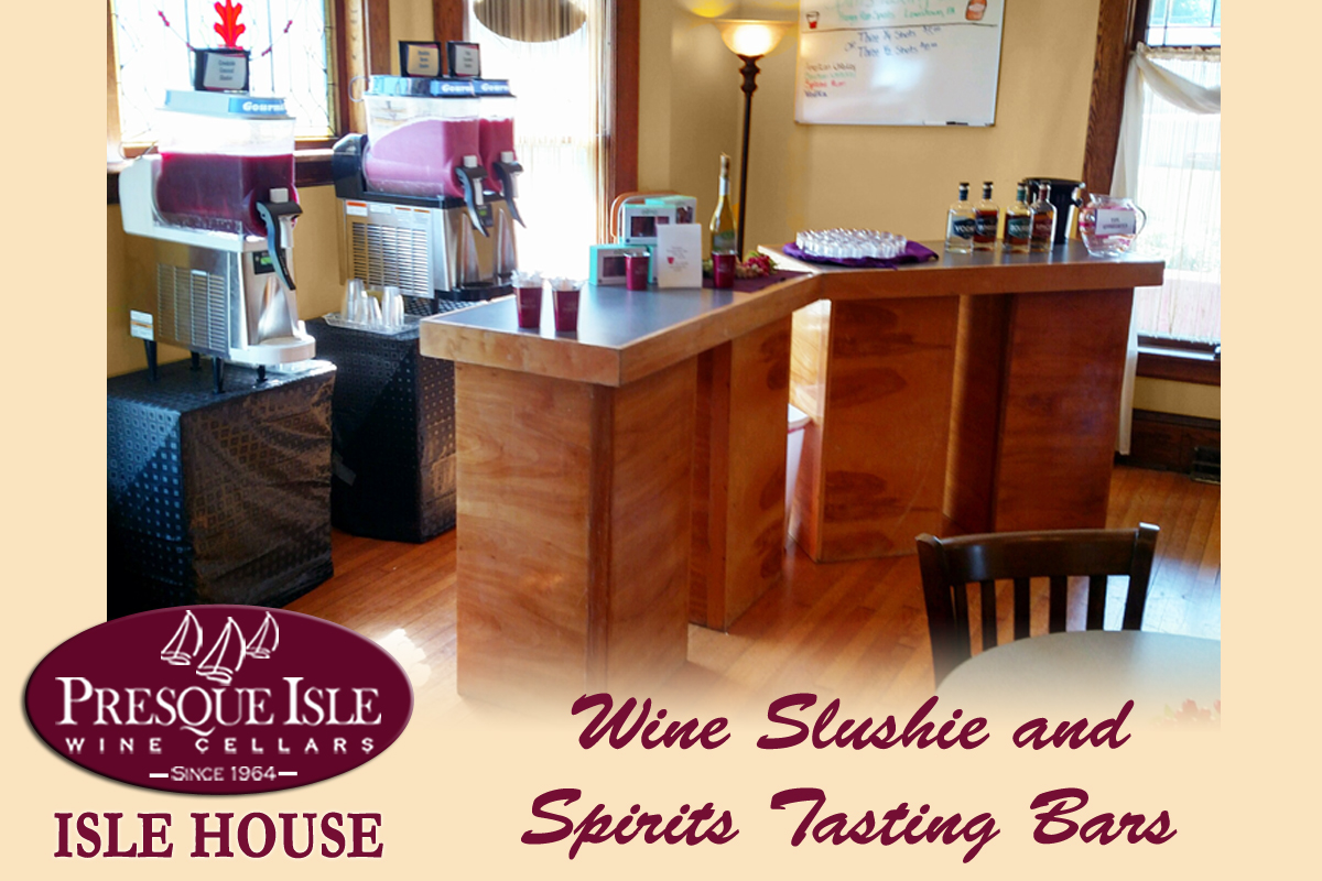 Isle House Wine Slushie and Spirits tasting bars
