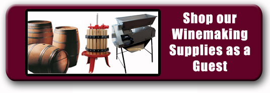 Shop Commercial Winemaking Supplies as Guest