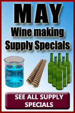 May Wine making Supply Discounts